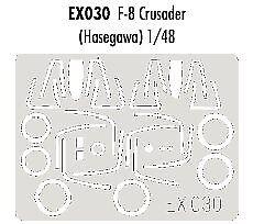 Eduard 1//48 F-8 Crusader paint mask for Hasegawa kit # EX030