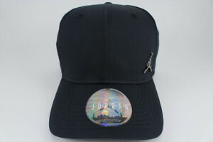 JORDAN CLASSIC 99 METAL JUMPMAN ADJUSTABLE CAP HAT BLACK SNAPBACK ... 6a241ab5523c