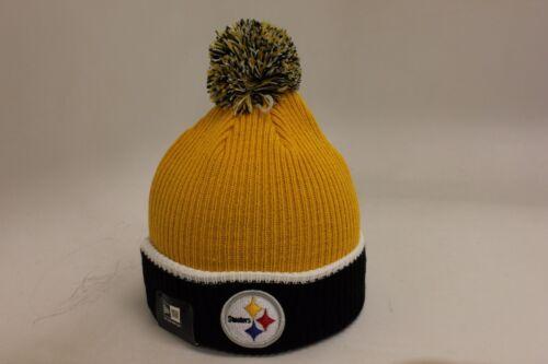 Pittsburgh Steelers Fireside Yellow Black White New Era Pom Skully NEW NWT