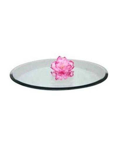 "12 x ROUND 20CM (8"") MIRROR PLATES, WEDDING TABLE CENTREPIECE DECORATION -LONDON"