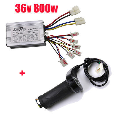 DC 36V 800W Plastic Scooter Motor Brushed Speed Controller Throttle Twist