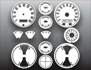 1967-1968-Ford-Mustang-METRIC-KPH-KMH-Dash-Instrument-Cluster-White-Face-Gauges