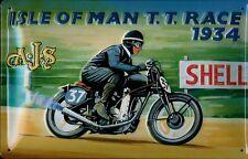 Isle Of Man T.T. Race 1934 Blechschild Schild Blech Metall Tin Sign 20 x 30 cm