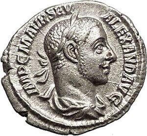 SEVERUS-ALEXANDER-226AD-Silver-Ancient-Roman-Coin-ANNONA-Wealth-i57327