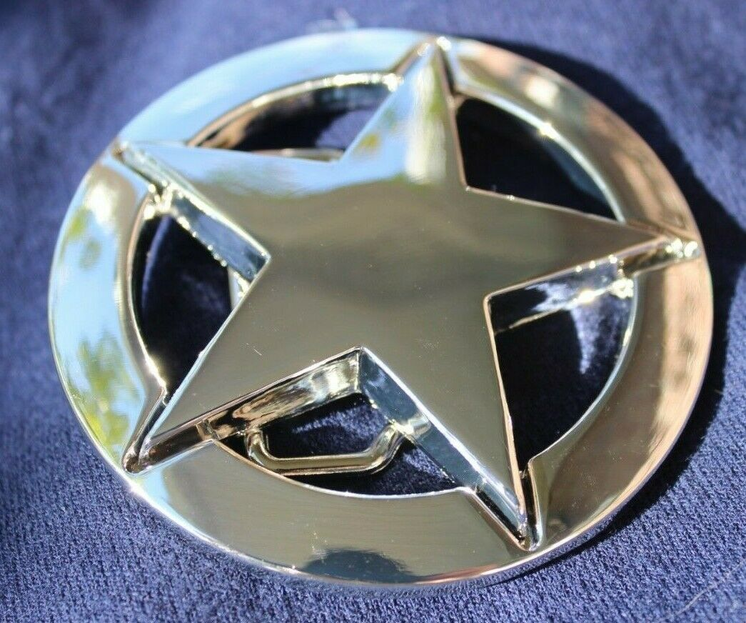♈ Old West Star Belt Buckle COWBOY ♈ Marshall Sheriff Great gift . Western USA