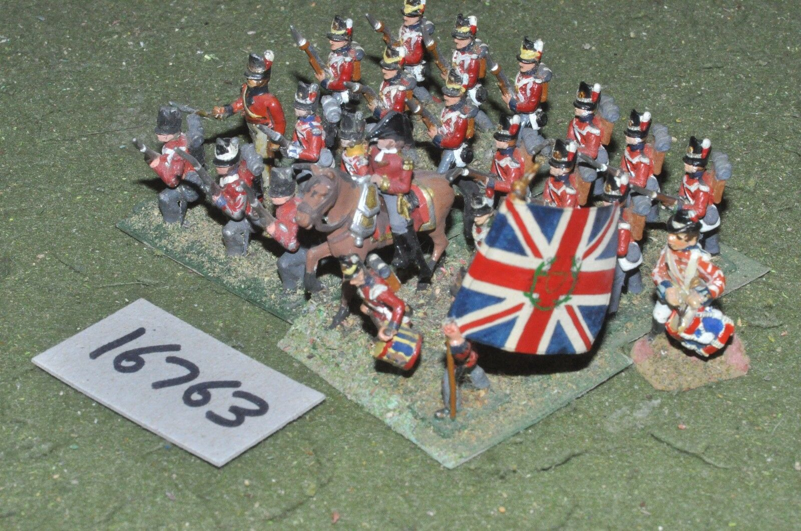 25mm napoleonic   british - infantry 24 figs - inf (16763)