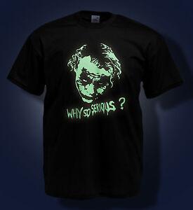 The Joker T Shirt Heath Ledger Why So Serious Batman Glow