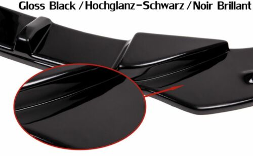 schwarze Cup Spoilerlippe für Audi A6 4G Lippe Spoiler Diffusor Ansatz schwert 7