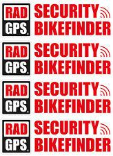 4x TRACKER GPS bikefinder ADESIVI BICICLETTA ANTIFURTO localizzatore di backup