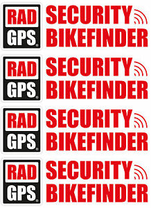 4x gps tracker bikefinder fahrrad aufkleber. Black Bedroom Furniture Sets. Home Design Ideas