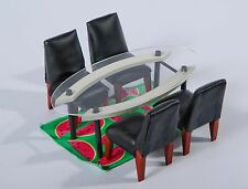 DINING ROOM SET - 1:12 scale  by Dakota Jackson - Bozart Kaleidoscope House