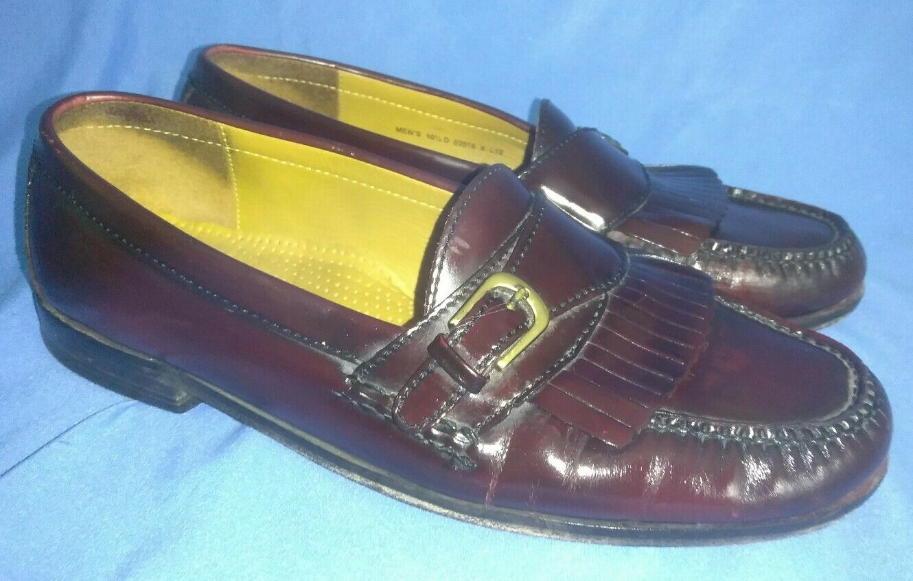 Men's Cole Haan Loafers 10 Slip On Burgundy Size 10 Loafers 1/2 D ff2393