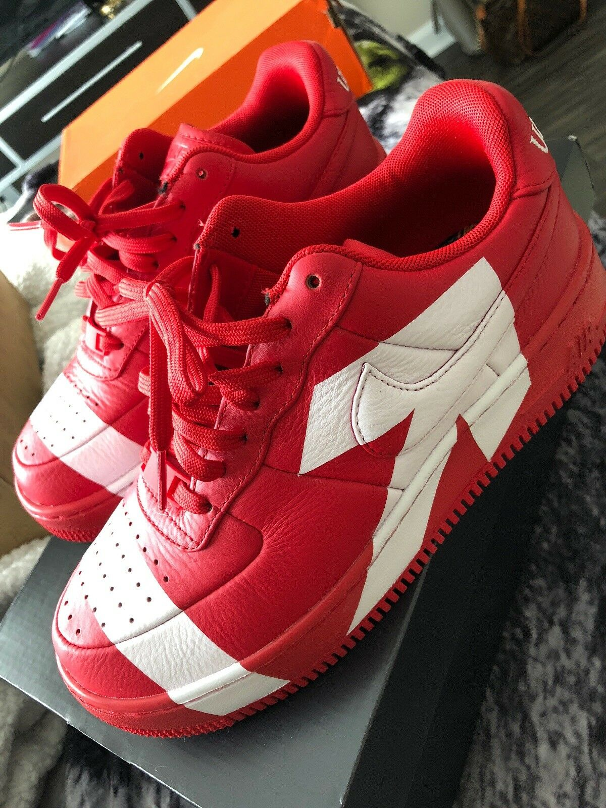 Nike air force 1 upstep lx RED Uptown Size 7 SOLD OUT