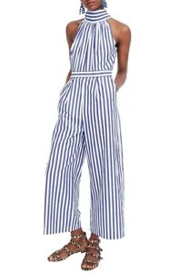 JCrew Stripe Halter Wide Leg Jumpsuit NWT Size 4 $148 SOLD OUT