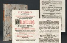 Vulpius altenburgische reumatóide 1699 rar Altenburg