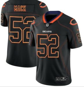 61e2bb79a9a Men's Chicago Bears #52 Khalil Mack Black Lights Out Jersey | eBay