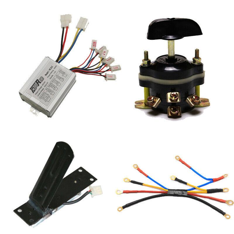 Caja de controlador de Cepillo de 24v 500w Interruptor de  pedal de metal cableado hacia adelante Telar ATV GO KART  marcas en línea venta barata