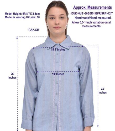 Chambray Camicia croccante cotone Chambray Camicia in in aFqpHqx