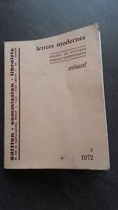 La Rivista Delle Lettere Minard Moderno Parigi Spilla 1972 ABE