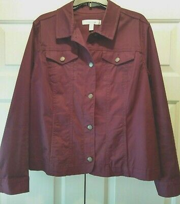 Croft /& Barrow Women's Button-Down Jacket Size XXL