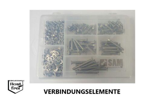 Innensechskantschrauben Sortiment//Set 320 Teile DIN 7991 M5 EDELSTAHL A2 V2A