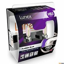 2x HB3 Lunex PLASMA BLUE 9005 12V 65W Car Headlight Halogen Bulbs P20d 4200K