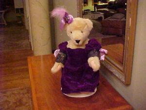 MUFFY VANDERBEAR ~ ALICE MOM DRESSED MUSICAL SOIREE PURPLE VELVET