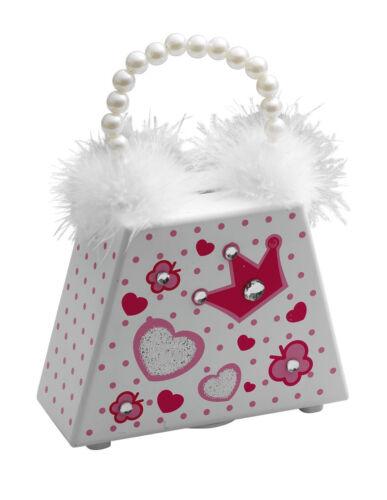 Girls White fluffy beaded Money Box Piggy Bank By Katz Dancewear MB-02