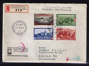 Schweiz Mi Nr 431 434 Fdc Pro Patria 1944 Auf R Brief Nach