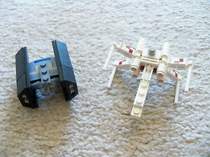 LEGO-Star-Wars-Rare-4484-X-wing-Fighter-amp-TIE-Advance-Complete