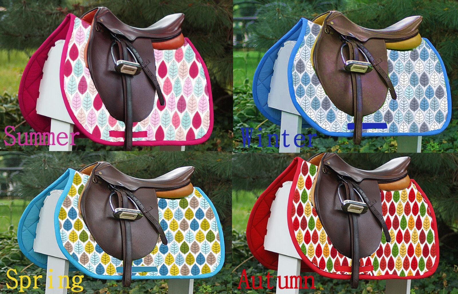 New Horse Saddle Pad Numnah '4 Seasons' Printed Pattern Pony Cob Full Unique