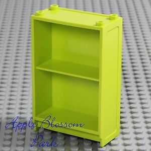 Image Is Loading LEGO Minifig Lime BOOK SHELF Girl Boy Elf