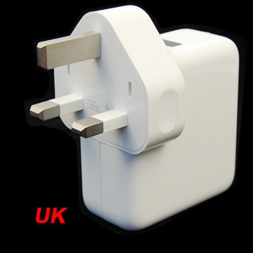 4 USB Cargador De Pared muelles del puerto adaptador de alimentación AC múltiples viajes EU//Blanco Enchufe de Reino Unido