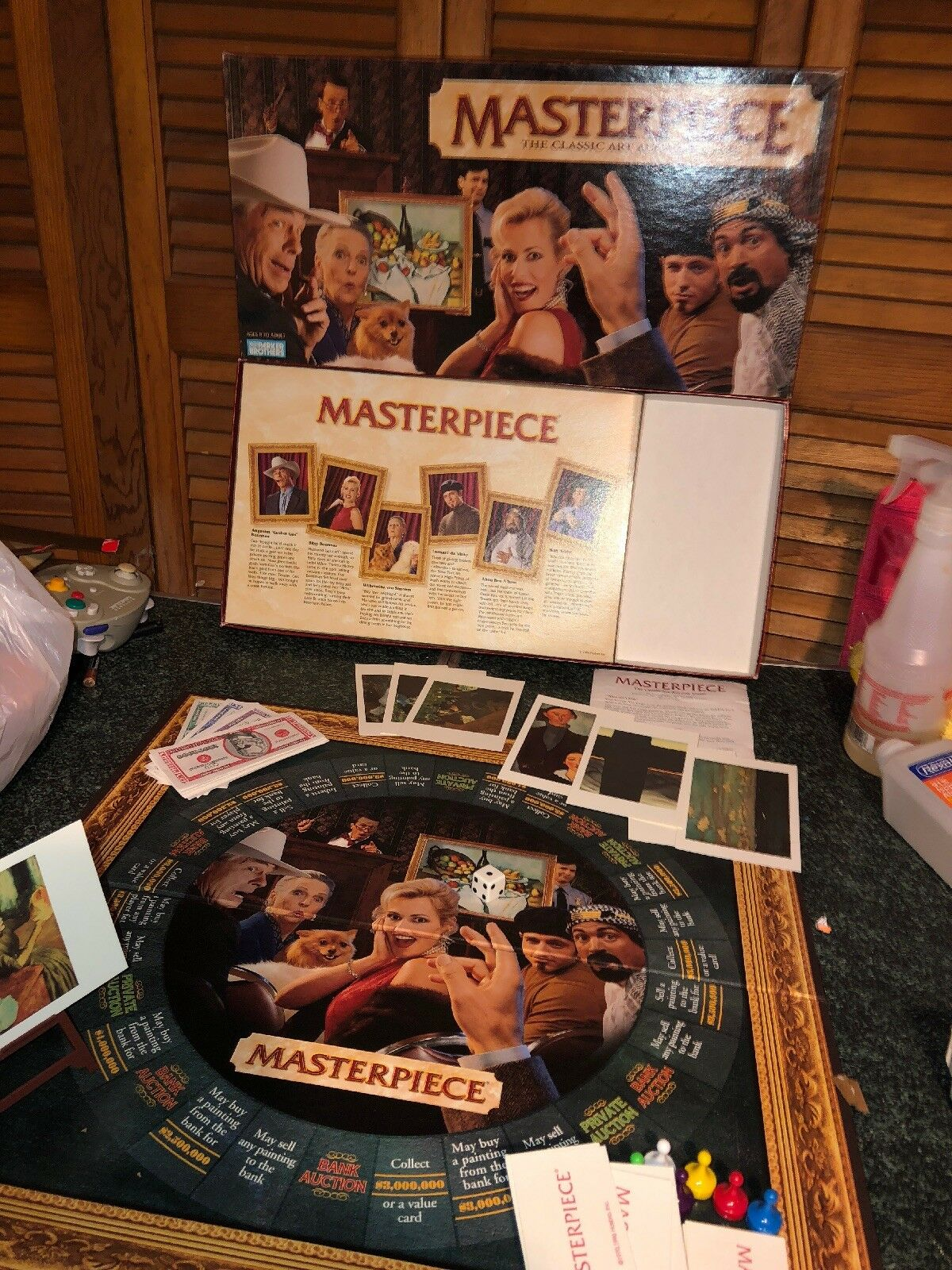 1996 Masterpiece The Classic Art Auction Game Parker Brothers - 100% COMPLETE