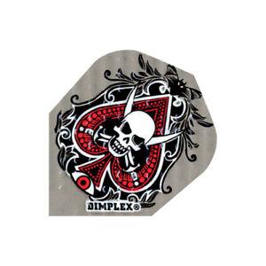 Harrows Dimplex Embossed Dart Flights Standard Shape Spades Skull