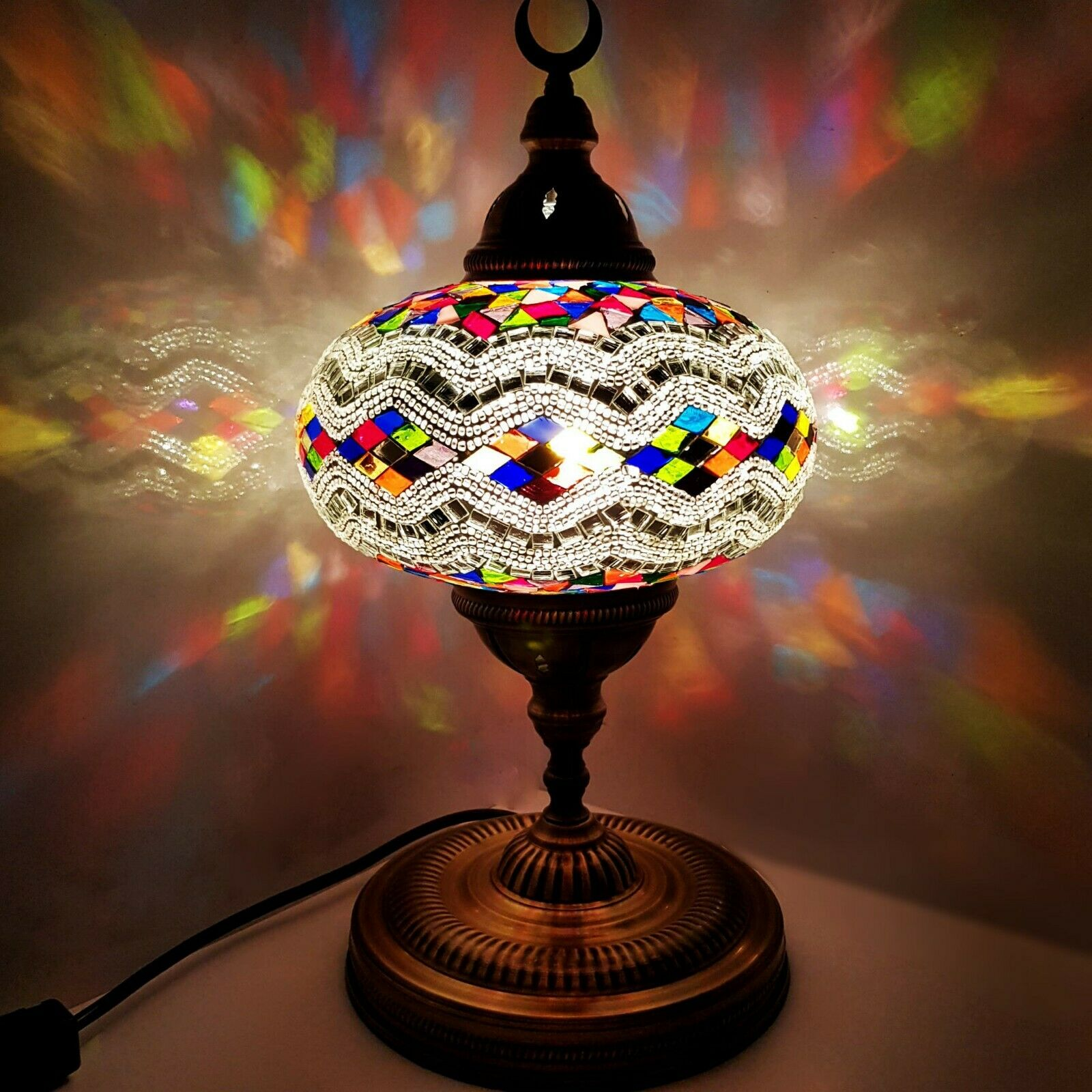 X Large Turkish Moroccan Colourful Lamp Light Tiffany