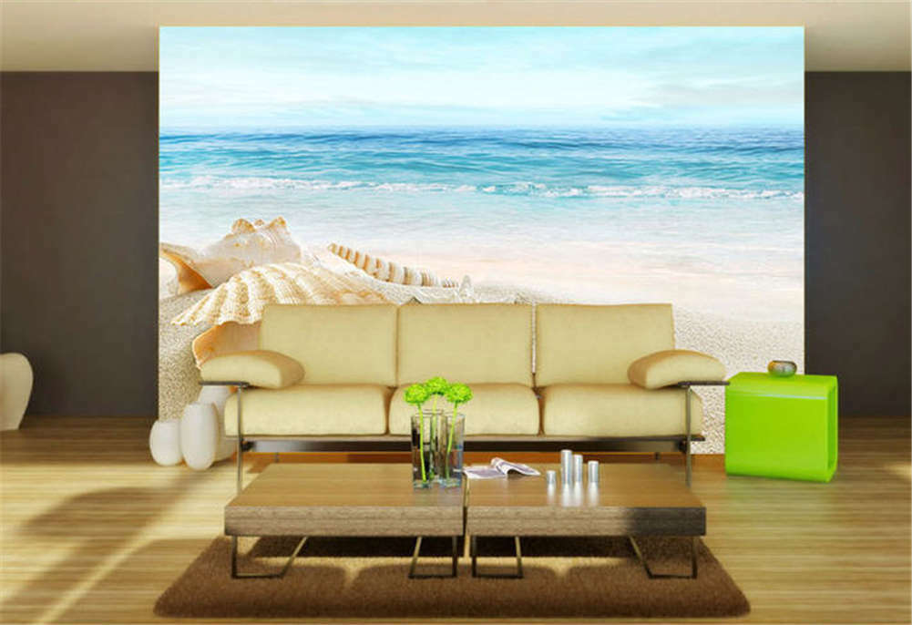 Remote Quiet Shell 3D Full Wall Mural Photo Wallpaper Printing Home Kids Decor
