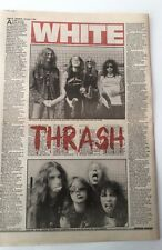 METALLICA 'white thrash' 1984 UK ARTICLE / clipping