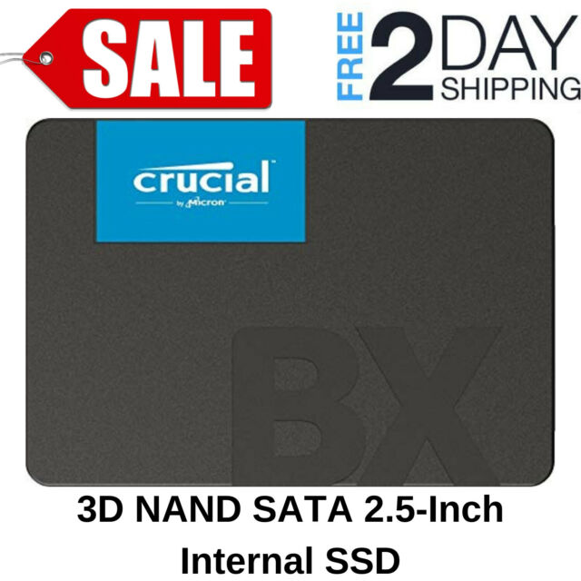 CT120BX500SSD1Z Crucial BX500 120GB 3D NAND SATA 2.5-Inch Internal SSD