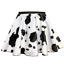 Black White COW PRINT Cowboy Cowgirl Waistcoat OR Skirt Woody Fancy Dress