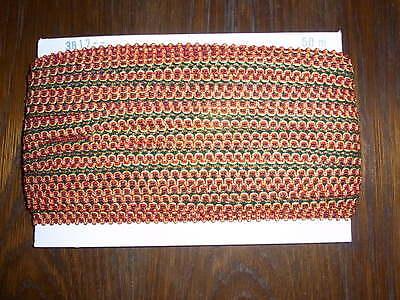 (0,34€/m) Grün/rot/gelb/schwarze Borte / Litze, Höhe Ca. 2cm 50m Auf Einer Pappe Hohe QualitäT Und Geringer Aufwand