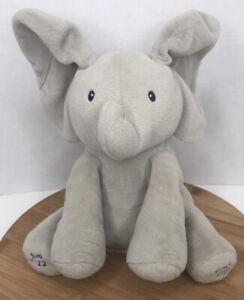 Gund Baby Animated Flappy the Elephant Plush Toy Peek-A-Boo Ears Singing