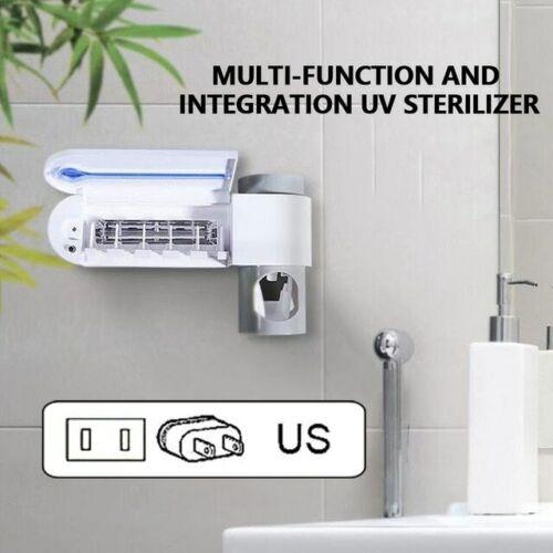 Uv Light Toothbrush Sterilizer Holder Toothpaste Dispenser Cleaner Automatic San