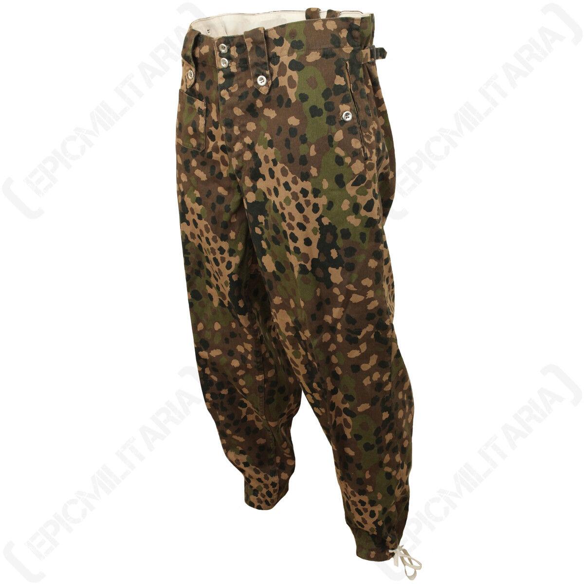 Allemand Elite HBT Point Pantalons - WW2 Pois Camo Pantalons Repro M44