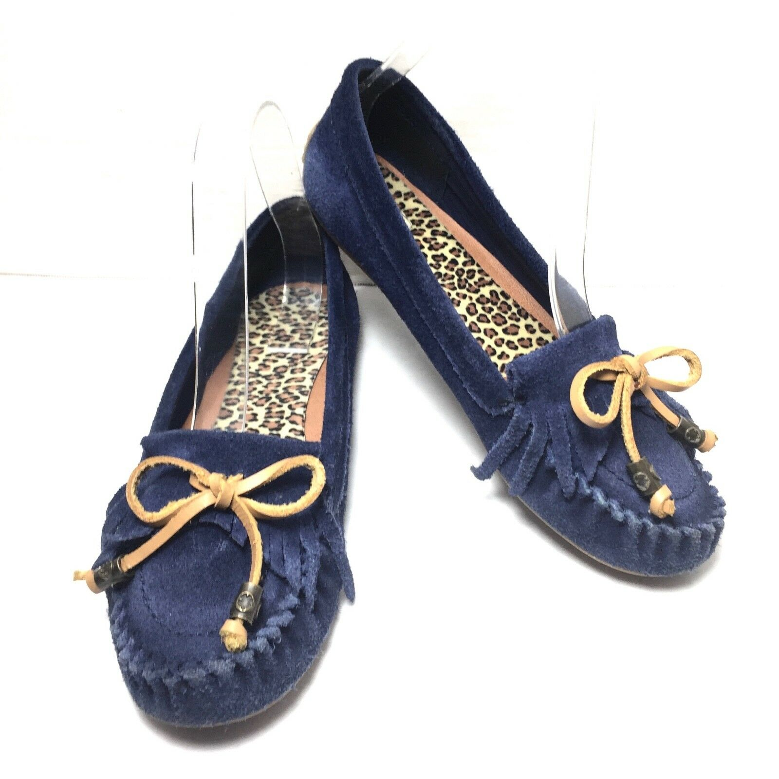 Women's Lucky Brand bluee Suede Leather Moccasins Loafers  Size 7 M