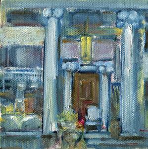 Seymour-June-House-Art-amp-Antiques-6x6-in-Original-oil-on-canvas-Hall-Groat-Sr