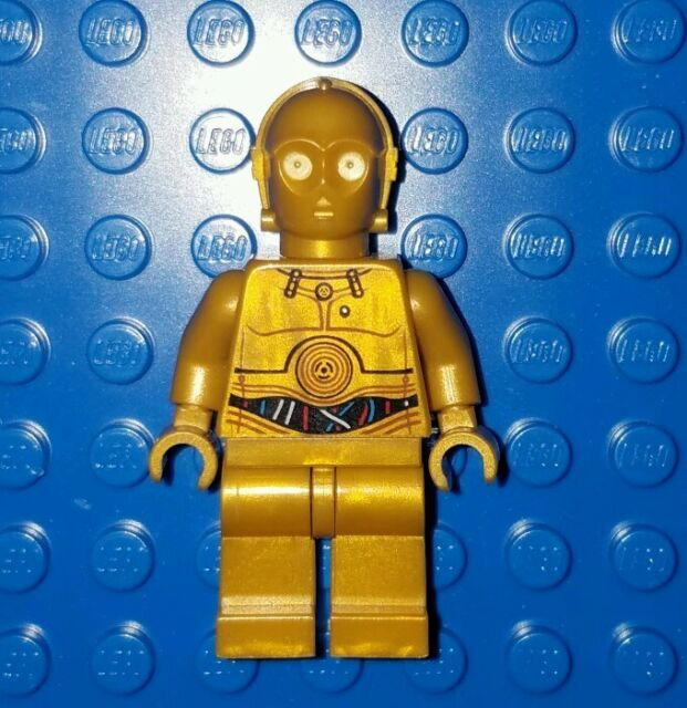 LEGO Star Wars Minfigures C3PO C-3PO with Colorful Wires Pattern
