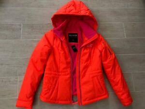 Détails sur Nouveau Hollister de Abercrombie & Fitch pour Femme Gilet Veste à capuche manteau Orange S afficher le titre d'origine