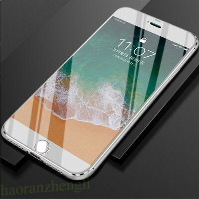 6D Clear Tempered Glass Film Full Cover Screen Protector For iPhone X 7 8 6 Plus