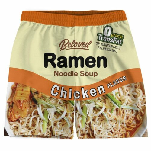 BRAND NEW Beloved CHICKEN RAMEN WEEKEND SHORTS SMALL-XLARGE MADE IN THE USA